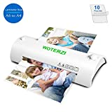 #3: Thermal Laminator for A4/A6, Laminating Machine with Two Roller System, Jam-Release Switch, Fast Warm-up, Quick Laminating Speed, Low Noise, for Home, Office and School, with 10 Laminating Pouches