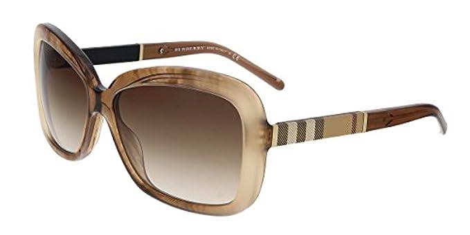 c9bc4e2201 Burberry 0BE4173 361213 58, Occhiali da Sole Donna, Marrone (Brown Gradient  Striped/Browngradient): Amazon.it: Abbigliamento
