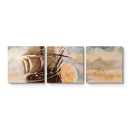 Amazon.com: Victories Nautical Theme Canvas Wall Art Square ... on nautical bedroom accessories, nautical bedroom wallpaper, nautical bedroom diy ideas, nautical bedroom designs, rustic wood headboard bedroom ideas, nautical bedroom wall ideas, nautical bedroom art, nautical themed bedroom ideas, nautical master bedroom ideas, nautical bedroom for teen girls, nautical bathroom ideas, nautical room ideas, nautical guest bedroom ideas, nautical bedroom crafts, nautical bedroom color, nautical bedroom curtains, nautical color ideas, nautical curtains ideas, nautical interior ideas, luxury white bedroom ideas,