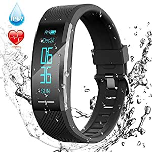 Pulsera de Actividad Inteligente Impermeable IP67, AGPTEK Reloj Deportivo con GPS Podómetro, Monitor de Ritmo, Calorías, Sueño Notificación etc para ...