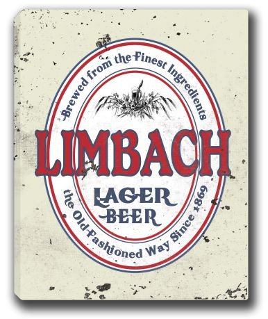 Limbach Lager Beer Stretched Canvas Sign 16  X 20