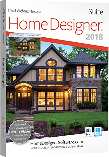 Chief Architect Home Designer Suite 2018 - DVD/Key Card (Easy Home Design Software)