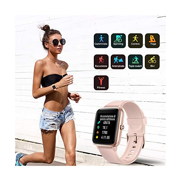 Smartwatch Orologio Fitness Donna, UMIDIGI Uwatch3 Fitness Tracker Bluetooth Smart Watch Donna Uomo Bambini… 4