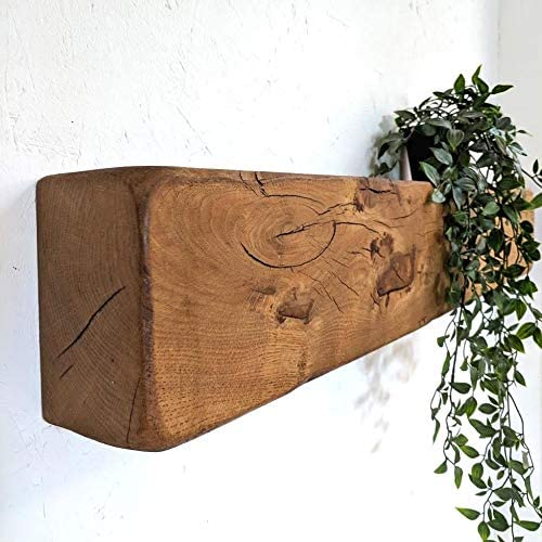10 x 15 x 110cm Antique Oak Ben Simpson Furniture Rustic Oak Beam Fireplace Mantel