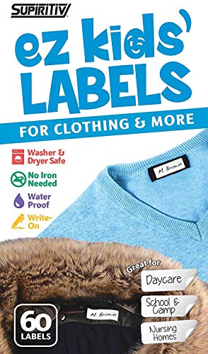Custom Made Toddler Clothes (Back to School No Iron Stick On Write On Clothing Labels | Great for Children and Adults | Washer & Dryer Safe | School, Camp, Nursing Care, Toys, Organizing |)