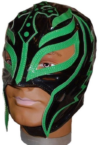 WWE Rey Mysterio Official Black and Green Trim Youth Size Wrestling Mask Licensed