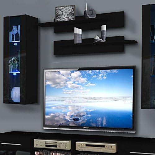 Paris Prix Mueble TV pared invento II Twin 240 cm negro: Amazon.es: Hogar