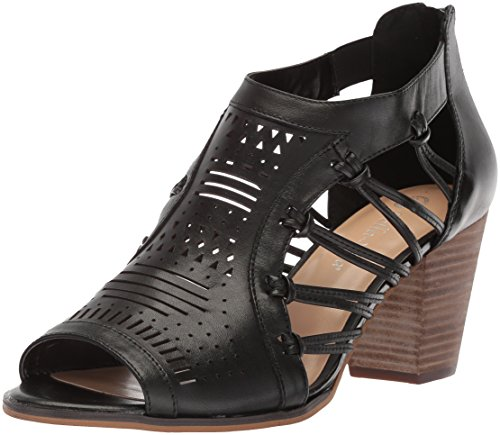 Bella Vita Women's Kortez Heeled Sandal, Black Leather, 7.5 M US