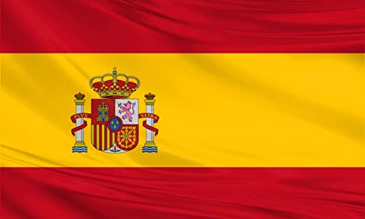 Bandera gigante de España 2,4 m x 1,5 m: Amazon.es: Jardín