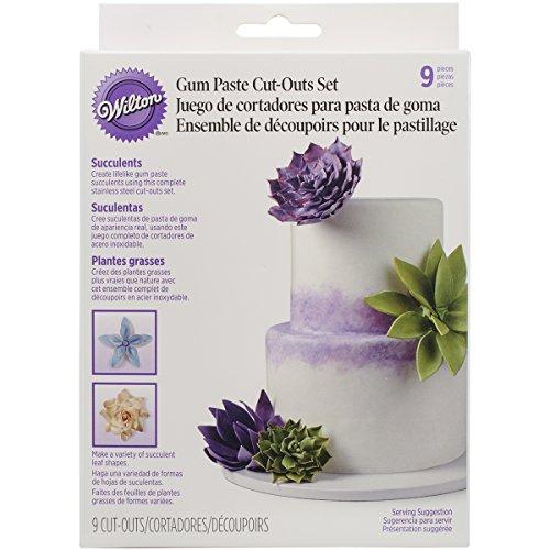 Wilton Gum Paste Succulents Cut-Outs Set, 9-Piece ()