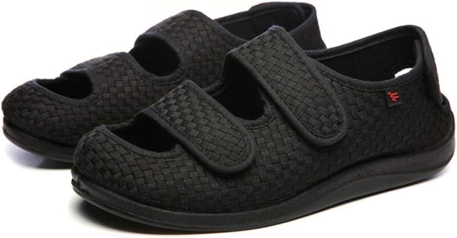 B/H Zapatillas Ajustables ortopédicas,Calzado de Verano para pie diabético, Hombres y Mujeres con Empeine Alto y pies gordos-41, Zapatillas Ortopédica para,Zapatos de pie hinchados
