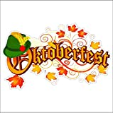 Oktoberfest Static Cling Window Fall Decal Removable and Reusable Fall Cling