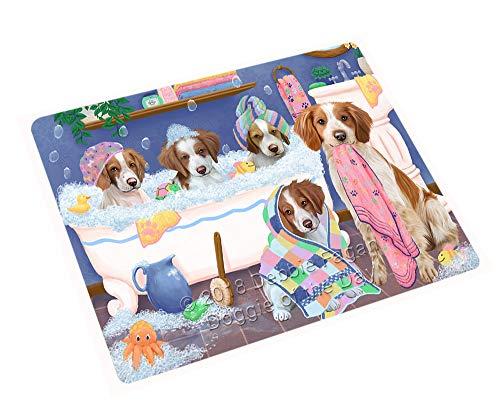 (Doggie of the Day Rub A Dub Dogs in A Tub Brittany Spaniels Dog Blanket BLNKT130377 (60x80 Fleece) )
