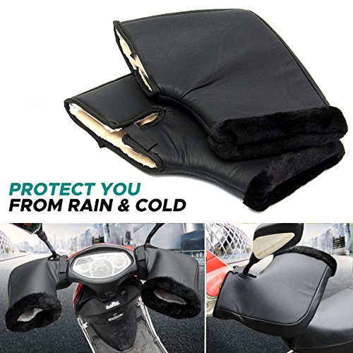 - AUDEW Pair Waterproof Motorcycle Grip HandleBar Muff Winter Warmer Thermal Cover Glove