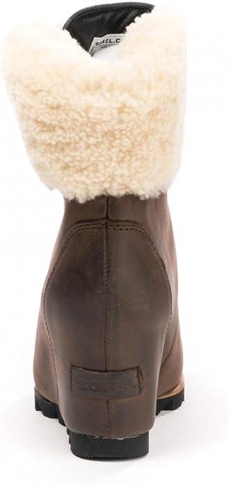cuir noir NEUF sans étiquette//B Sorel Conquest Wedge Bootie taille variation
