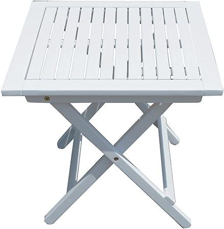 Table De Jardin Gilbert Table De Balcon Table En Bois Table Carree Pliante De Jardin Amazon Fr Jardin