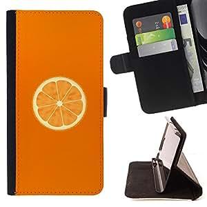 - Minimalist Orange Slice/ Personalizada del estilo del dise???¡¯???¡Ào de la PU Caso de encargo del cuero del tir???¡¯????n del s - Cao - For HTC One M9