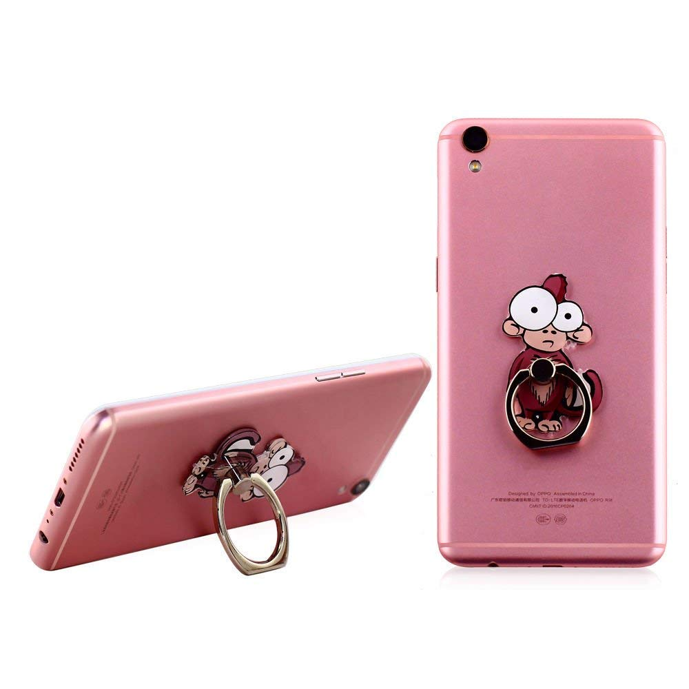 Cell Phone Finger Ring Holder Cute Animal Smartphone Stand 360 Swivel for iPhone, Ipad, Samsung HTC Nokia Smartphones Tablet,by UnderReef (Monkey) by UnderReef (Image #6)