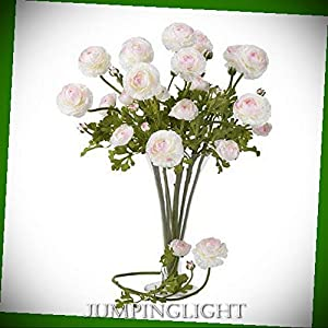 "JumpingLight 2108-WP 23"" Ranunculus Stem (Set of 12) Artificial Flowers Wedding Party Centerpieces Arrangements Bouquets Supplies"