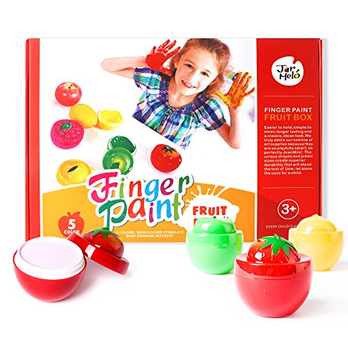 t Colorful Fruit Box; 5 Colors of Pigment; Assorted Art Tools; Washable; Non-Toxic (Doug Finger Paint)