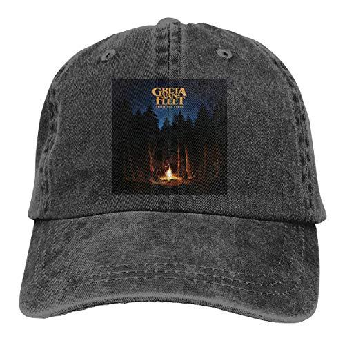 DonaldKAlford Greta Van Fleet from The Fires Adjustable Hat Comfortable Unisex Casual Baseball Cap,Sun Hat -