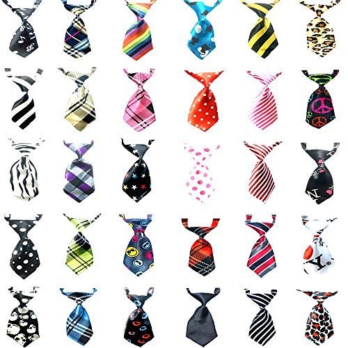 Small Dog Ties Pet Ties-Including 30 Pcs Different Styles Victorshunshun tfd001 2019 New Design for Dogs Cats and Any Small Pet Beautiful Ties for Cats and ()
