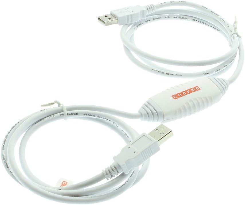 Gearmo Driverless USB 2.0 Data Transfer Cable for Windows 10/8 / 7 / Vista & XP