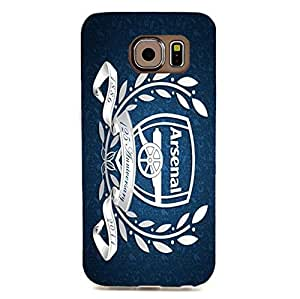 Arsenal Football Club Logo 3D Plastic Shell Accessory Blue Retro Durable Cover Case Back Skin for Samsung Galaxy S6 Edge