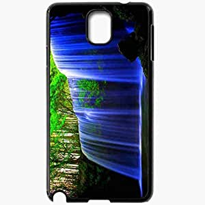 Unique Design Fashion Protective Back Cover For Samsung Galaxy Note 3 Case Amazing Waterfall Wallpaper Nature Black