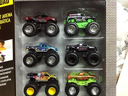 Hot Wheels Monster Jam Triple Blast Arena with 6 Monster Trucks