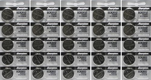 25 Energizer 2032 Battery CR2032 Lithium 3v (5 Packs of ()