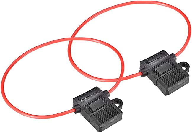 uxcell/® Fuse Holder in-line 12AWG Automotive Car Waterproof Fuse Holder Black for ATC//ATO Fuse