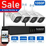 1080P Wireless Security Camera System, Firstrend 8CH...
