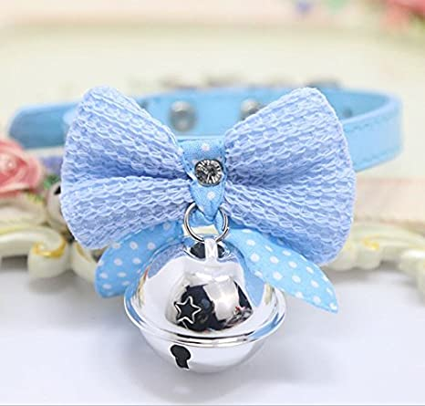 b8ce12ac2964 Amazon.com: Kawaii Solid Color Leather And Bells Pets Collars ...