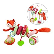 Yeahibaby Baby Infant Crib Toy Wrap Around Crib Rail Toy Fox Stroller Toy Cute Baby Educational Plush Toys