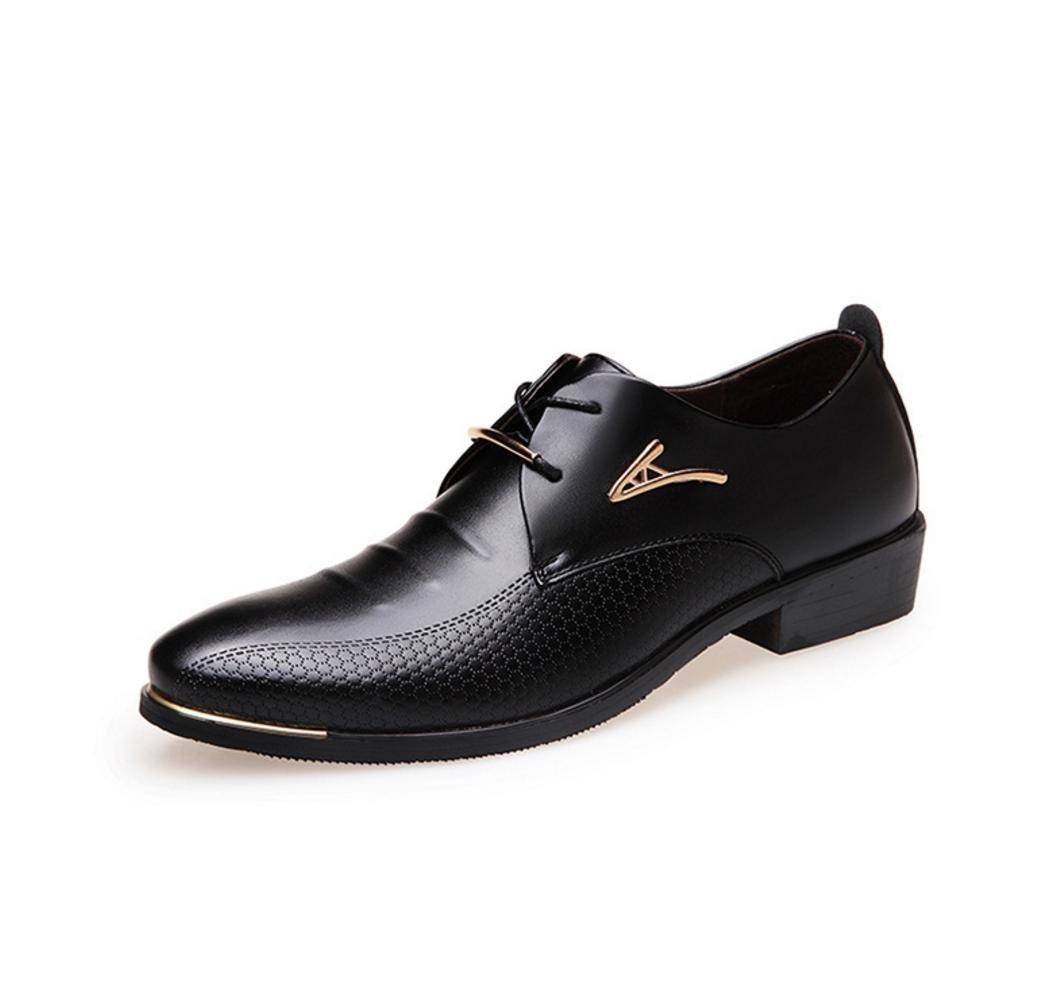 HYLM Männer Business Schuhe Casual Lace Schuhe Hochzeit Schuhe Bankett Schuhe , black , 42