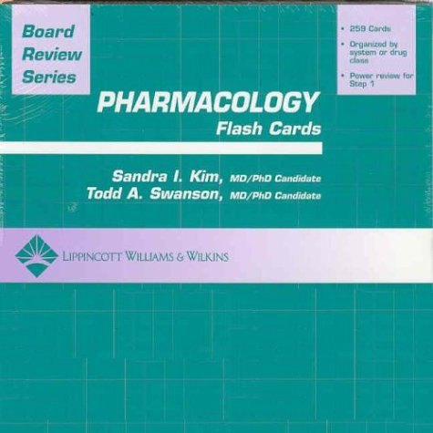 BRS Pharmacology Flash Cards (Board Review Series)