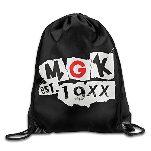 Price comparison product image NEWTHREE Machine Gun Kelly (Music) MGK Logo Drawstring Backpack