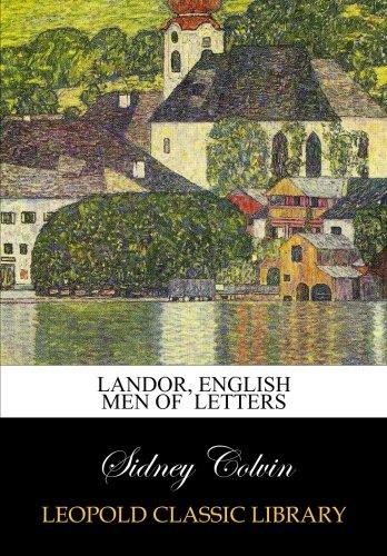 Download Landor, English Men of  Letters pdf epub