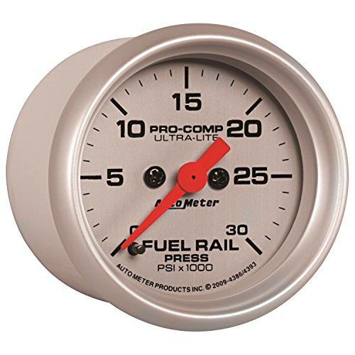 Auto Meter 4386 Ultra-Lite Fuel Rail Pressure Gauge (Pressure Autometer Fuel)