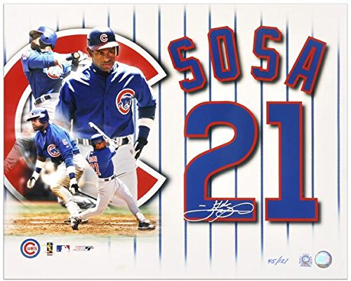 "Sammy Sosa Chicago Cubs Autographed 16"" x 20"" Photograph Collage-Limited Edition of 121 - Fanatics Authentic Certified"