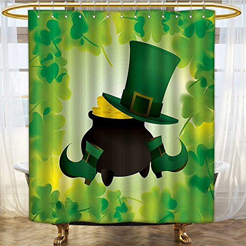 Mikihome Shower Curtain Customized Leprechaun Hat and Shoes