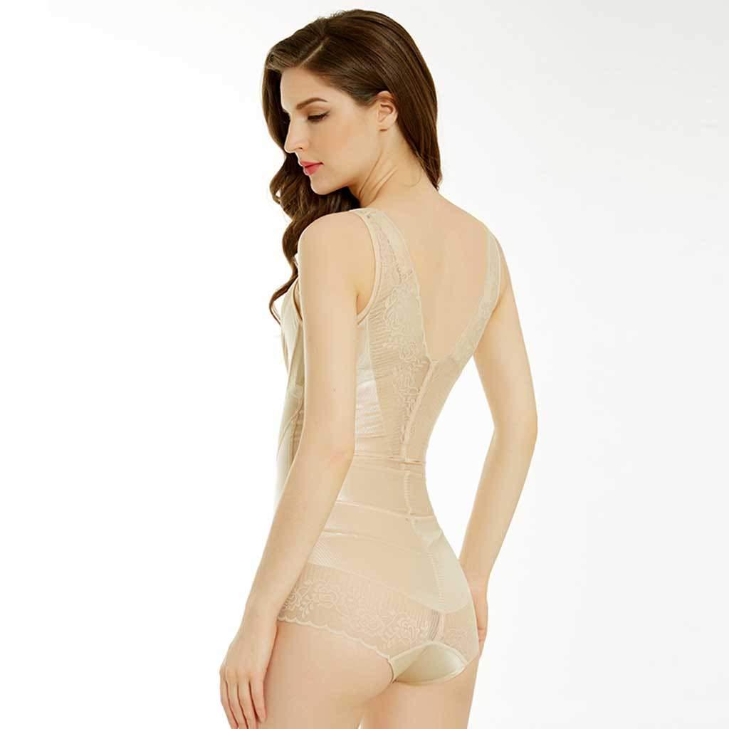 V Neck Body Shaper for Women Tummy Firm for Dress Full Body Shaping Seamless Shapewear Bodysuit Slimmer Black, M