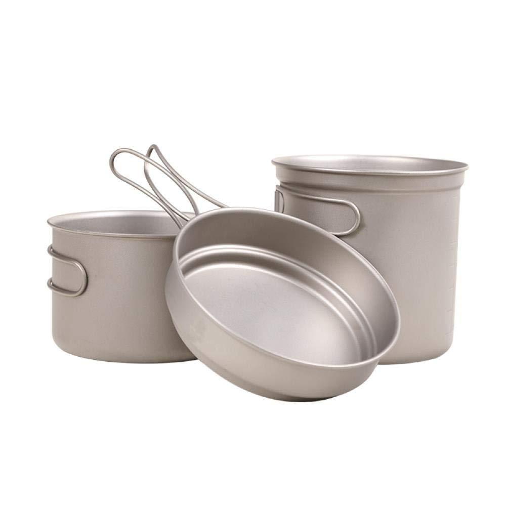X  HTLPDG De Cuisine extérieure,casseroles de Pliantes, Haute qualité, Batterie de Cuisine de Camping portable,en Aluminium extérieure Pliable Camping casseroles Cuisson portable sac à dosing théière