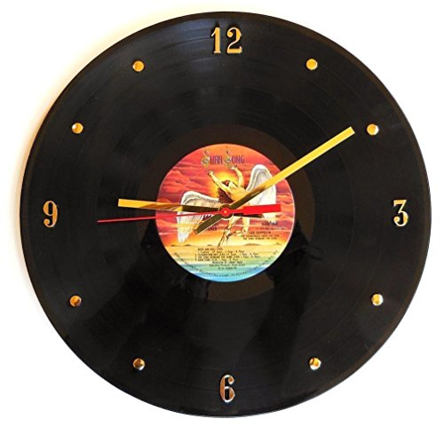 "Record Clock - Led Zeppelin . Handmade 12"" wall clock create"