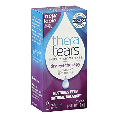 TheraTears Lubricant Eye Drops, 0.5-Ounce Bottle (Pack of 2)