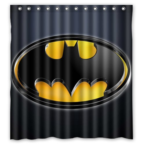 Batman Logo Custom Waterproof Fabric Bath Shower Curtain 66