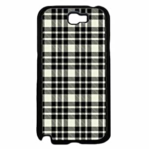 Black and White Plaid- TPU RUBBER SILICONE Phone Case Back Cover Samsung Galaxy Note II 2 N7100 hjbrhga1544