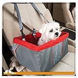 Kurgo Atomic Drop Dog Booster Seat, Red/Grey