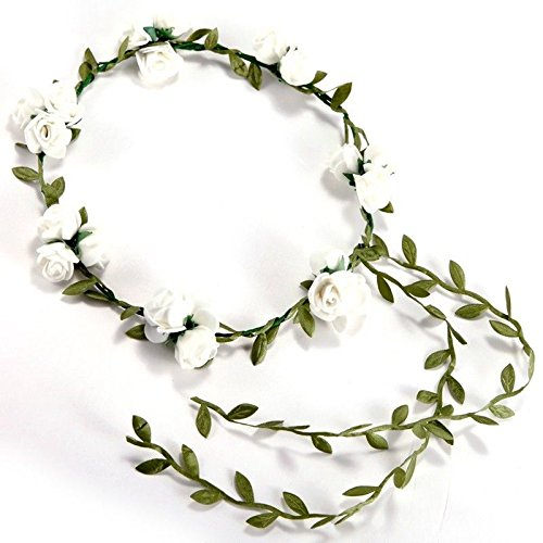 3 Flower/banquet! Headband Hair Accessories Wedding Floral head garland w G7M7]()